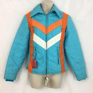 Edelweiss Vintage Ski Jacket M Womens blue orange